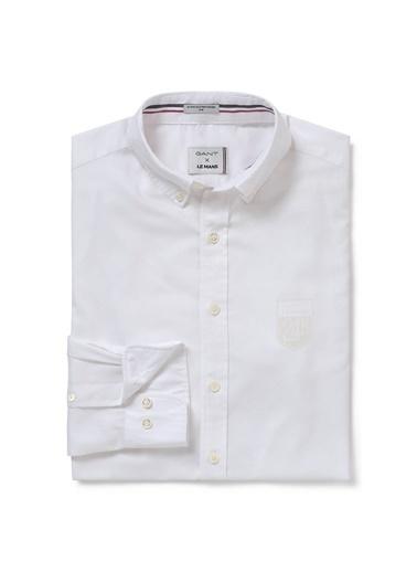 Gant Düz Slim Gömlek Beyaz